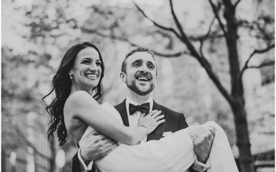 Dave + Stephanie's Jewish Wedding at Ignite Glass Studio